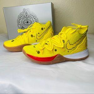 NIB NIKE KYRIE 5 Spongebob Sqaurepants Yellow